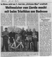 Triathlon am Badesee